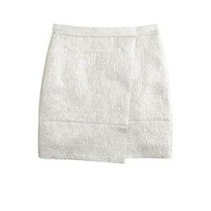 J.Crew Origami mini skirt in metallic matelassé 6